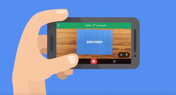 Câmera pode ser usada no app do Tradutor para ler placas em outros idiomas (Foto: Reprodução/Google)