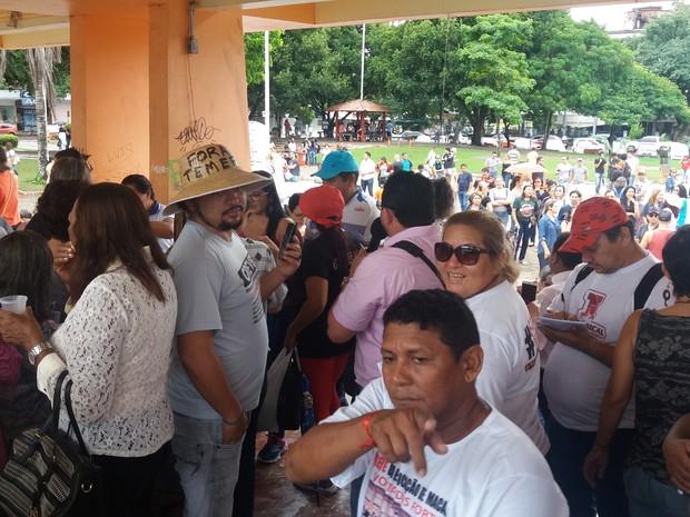 ato, reforma, previdência, professores, macapá, amapá (Foto: Jéssica Alves/G1)