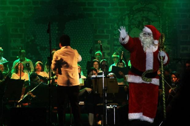Papai Noel foi uma das atrações do Simplesmente Natal, em João Pessoa (Foto: Dayse Euzebio/Secom-JP)