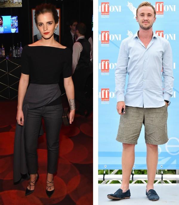 A atriz Emma Watson e o ator Tom Felton (Foto: Getty Images)