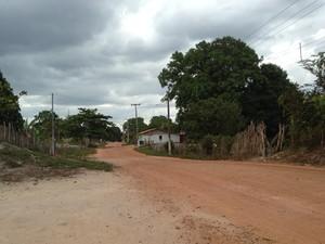 Ruas de Belágua não são asfaltadas (Foto: Clarissa Carramilo/G1)