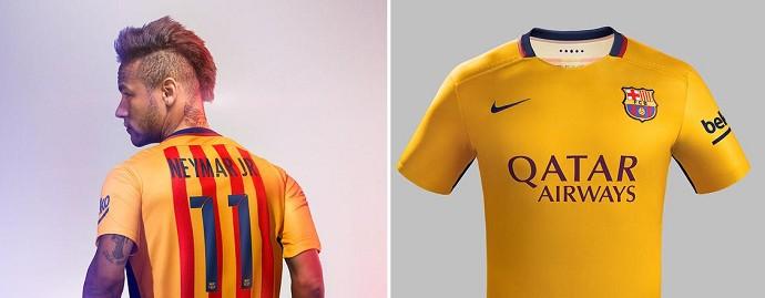 b648dbdc70 Neymar é modelo de segunda camisa do Barça para a temporada 2015/16 ...