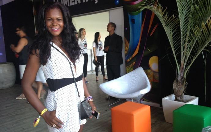 Jéssica Almeida, de 25 anos, no Festival de Verão (Foto: Henrique Mendes / Gshow)