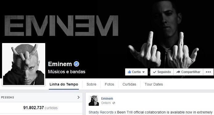 Rapper tem mais de 90 milhões de curtidas (Foto: Reprodução/Facebook)
