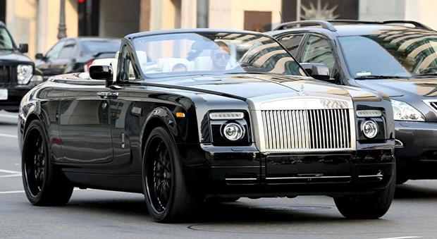 O Rolls-Royce Phantom conversível de David Beckham (Foto: Reprodução)