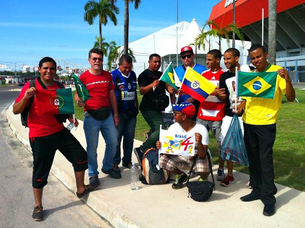 Grupo veio de ônibus até Manaus (Foto: Adneison Severiano/G1 AM)