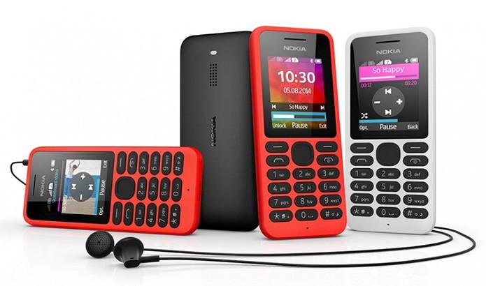 Nokia 130 é o novo telefone de baixo custo da Nokia na Era Microsoft (Divulgação/Microsoft)