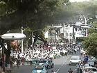 Grupo faz manifestação contra  a fome no centro de Salvador