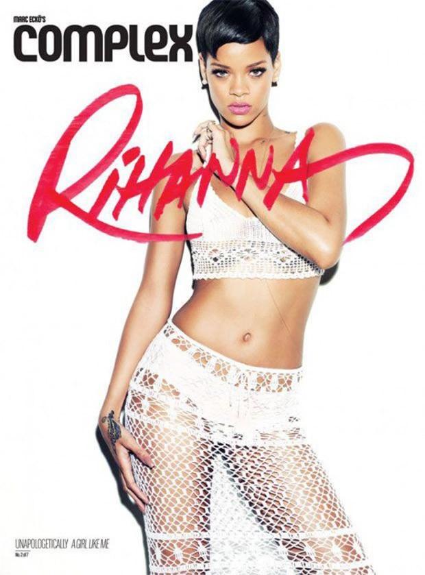 Rihanna e a capa em homenagem ao CD (Foto: Reprodução)