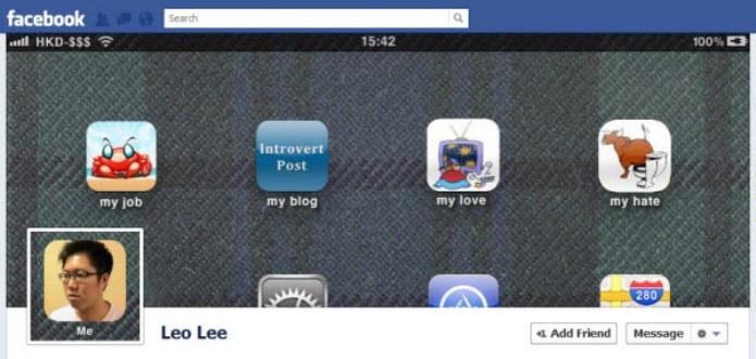 Foto de perfil virou uma aplicativo do iOS  (Foto: Reprodução/Hongkiat)