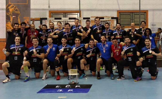 Pinheiros Handebol campeão paulista (Foto: Divulgação/E.C Pinheiros)
