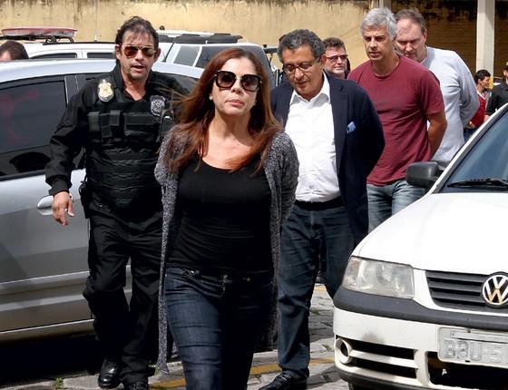 João Santana e Mônica Moura no dia  da prisão (Foto: PAULO LISBOA/BRAZIL PHOTO PRESS)