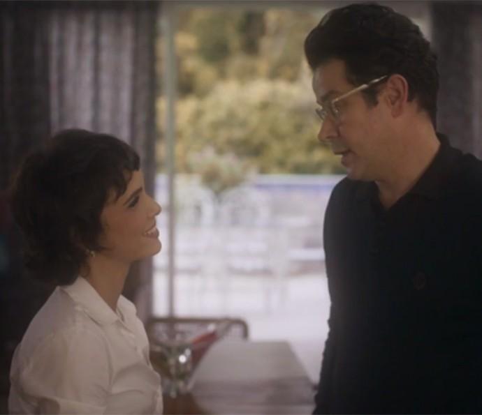Verônica e Saulo conversam sobre o passado (Foto: TV Globo)