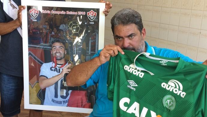 Roberto Maia pai de Arthur Maria (Foto: Viviane Leão/GloboEsporte.com)