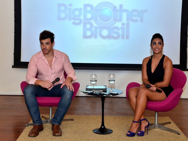 "Cézar Lima e Amanda na final do ""Big Brother Brasil 15"" (Foto: Roberto Teixeira/ EGO)"