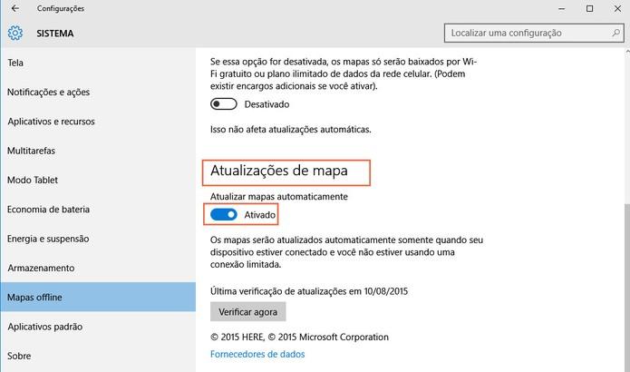Para facilitar ative a atualização automática dos mapas (Foto: Reprodução/Barbara Mannara)