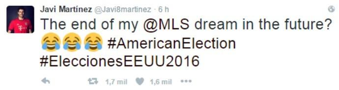 """BLOG: Javi Martínez brinca com eleição de Trump: """"É o fim do meu sonho na MLS""""?"""