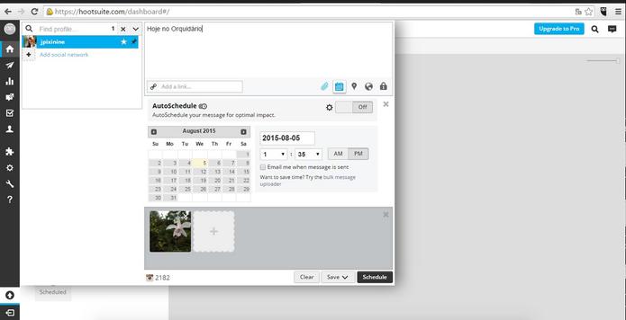 Hootsuite permite agendar posts no Instagram pelo computador, sem usar celular (Foto: Reprodução/Juliana Pixinine)