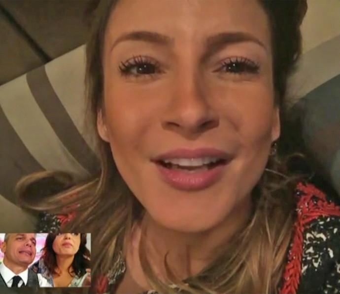 Claudia Leitte repercute no 'Vídeo Show' troca de nomes no 'The Voice Kids' (Foto: Vídeo Show / TV Globo)