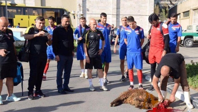 BLOG: Cena forte! Seleção do Iraque sacrifica ovelha para afastar azar nas eliminatórias