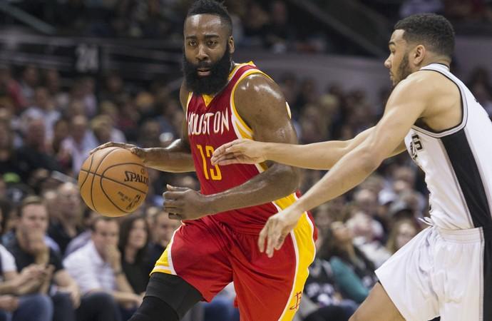 James Harden Rockets x Spurs NBA - AP (Foto: AP)
