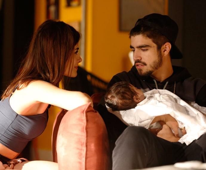 Margot deixa Grego emocionado com convite: 'Vou ser o segundo pai' (Foto: Ellen Soares/Gshow)