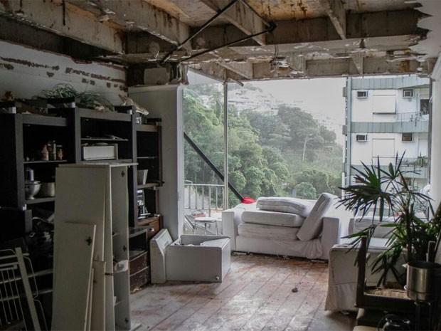 Veja fotos do interior do apartamento que explodiu em São Conrado (Foto: Tarso Ghelli/ Prefeitura)