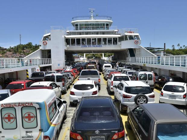 O Sistema Ferry-Boat vai operar com sete embarcações para as travessias entre Salvador e a Ilha de Itaparica (Foto: Ascom/Seinfra)
