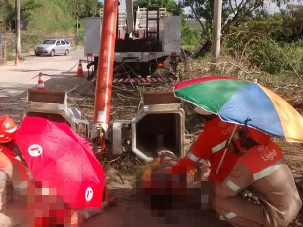 Acidente aconteceu no bairro Nova Primavera (Foto: Norma Cristina Braga de Oliveira/Arquivo pessoal)
