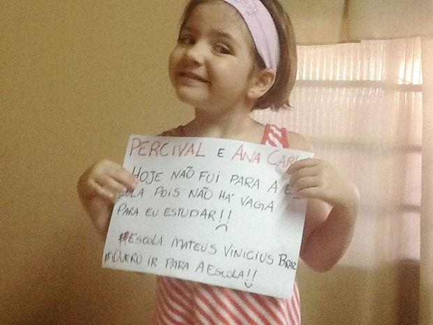 Mãe pede vaga para a filha na rede pública em Rondonópolis. (Foto: Reprodução/Facebook)