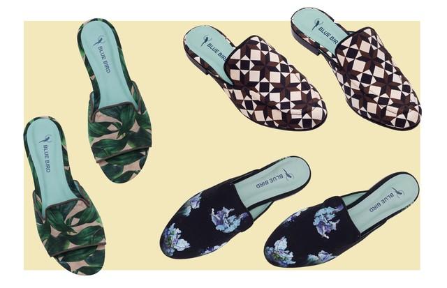 Sapatos da parceria de Andrea Marques e Blue Bird Shoes (Foto: Arte Vogue Online)