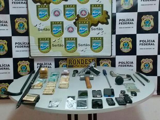 Prisão assalto Correios Feira de Santana, Bahia (Foto: SSP-BA / Divulgação)