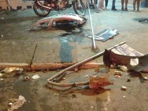 Acidente aconteceu na noite de sábado (5) (Foto: PM/Divulgação)