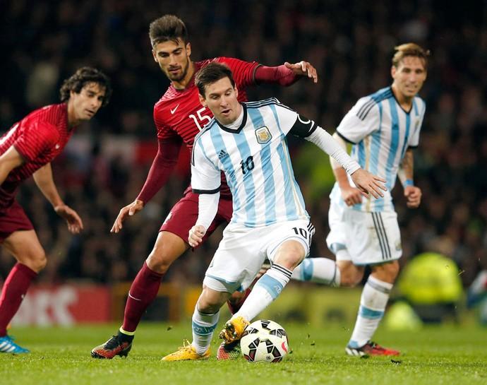 Messi, Argentina X Portugal (Foto: Agência Reutes)