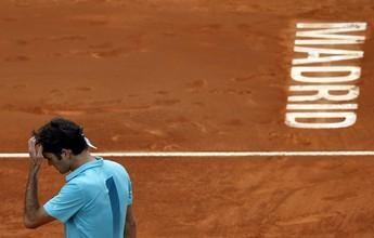 Com problema nas costas, Federer desiste do Masters 1000 de Madri