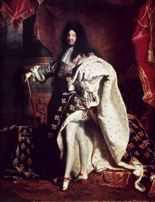 Luís XIV posa com saltos