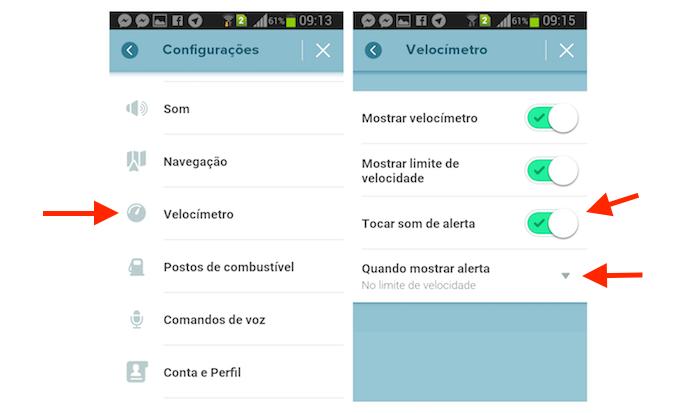 Ativando o alerta para limite de velocidade no Waze para Android (Foto: Reprodução/Marvin Costa)
