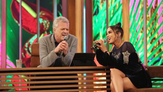 Anitta e Pedro Bial fazem dueto e surpreendem a web