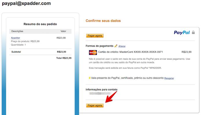 Confirmando compra do aplicativo (Foto: Reprodução/Helito Bijora)