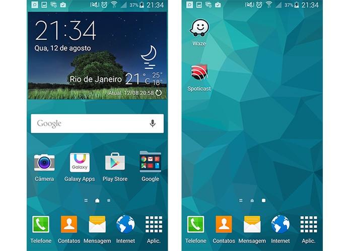 Mantenha o básico na tela do smart Android (Foto: Reprodução/Barbara Mannara)