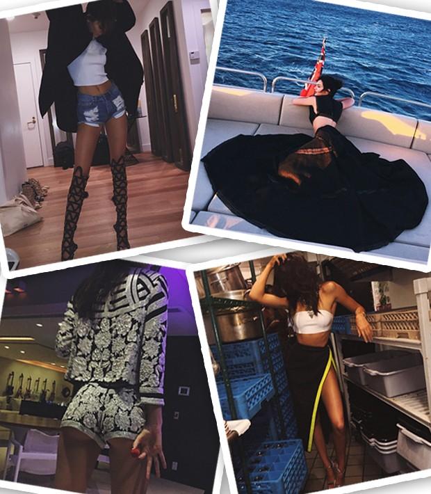 Para Kendall Jenner, um look do dia é muito mais que uma foto no espelho (Foto: Instagram/Reprodução)