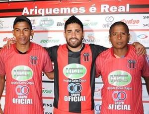 Leleco, Bochecha e Reginaldo são anunciados pelo Real Ariquemes  (Foto: Alexandre Jabá/ arquivo pessoal )