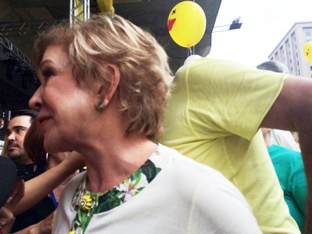 Marta Suplicy é hostilizada na Paulista (Foto: Paula Paiva Paulo/G1)