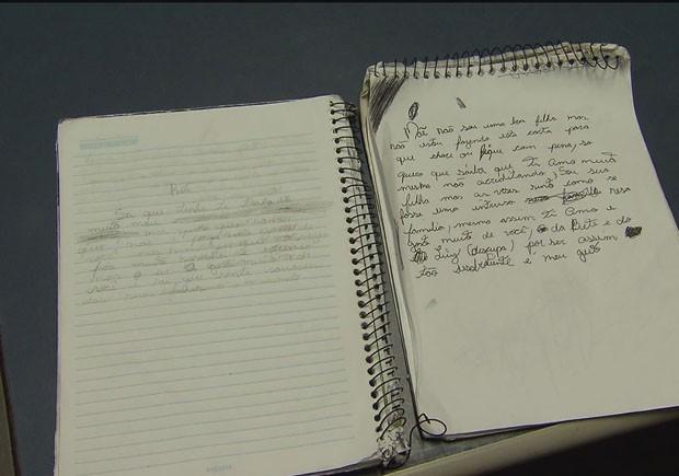 Cartas foram escritas para a mãe e para a amante da mãe (Foto: Reprodução/TV Tribuna)