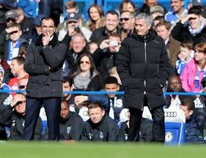 mourinho Roberto Martinez chelsea x everton (Foto: Getty Images)