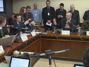 Comissão de Constituição e Justiça se reúne para votar parecer sobre Jardel (Foto: Reprodução/RBS TV)