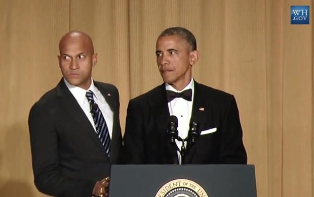 Barack Obama e o comediante Keegan-Michael Key em vídeo bem-humorado postado no Facebook da Casa Branca (Foto: Reprodução/Facebook)