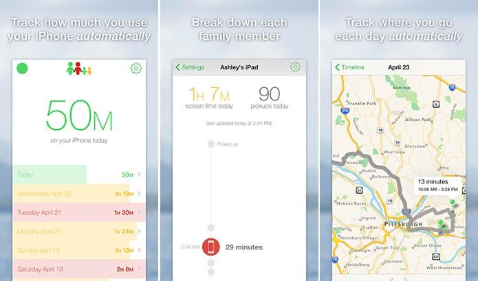 Moments rastreia iPhone do usuário para saber quanto tempo ele gasta no telefone (Foto: Divulgação/App Store)