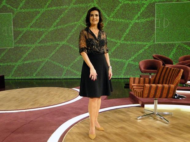 Fátima apostou no clássico para apresentar o Encontro (Foto: Encontro com Fátima Bernardes/ TV Globo)
