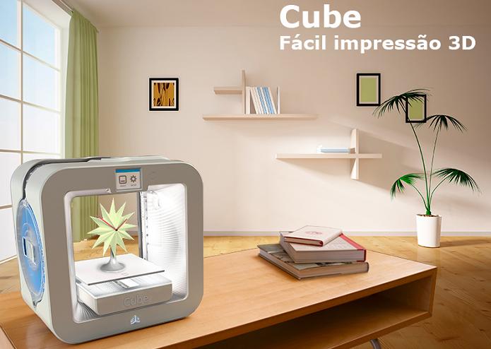 Cube é um dos modelos mais queridinhos das impressoras 3D (Foto: Divulgação/Cube)